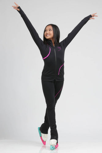 Sleek lightweight ice skating jacket for the rink or about town by Tania Bass