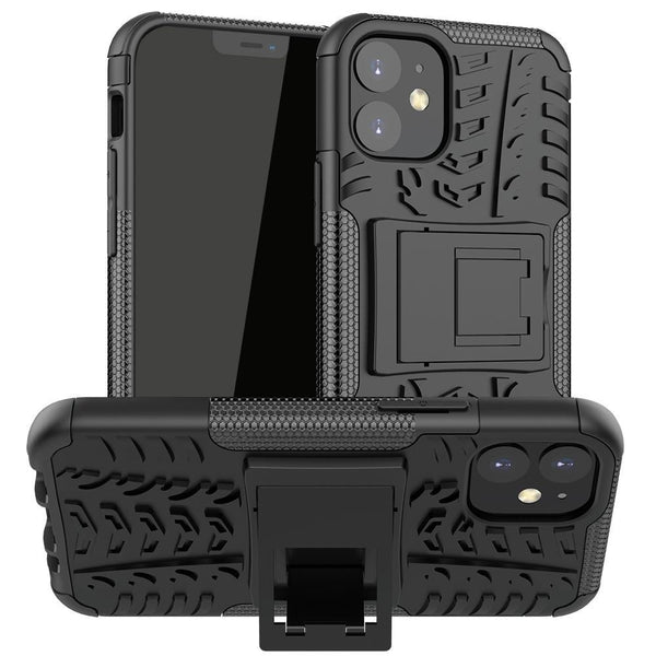 AMZER Hybrid Warrior Dual Layer Kickstand Case for Apple iPhone 12