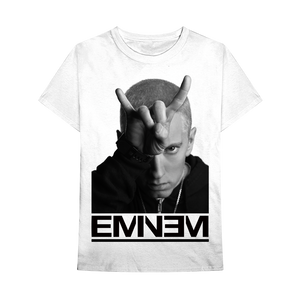 Eminem Finger Horns Men's White T-Shirt