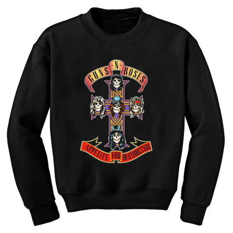 Guns N' Roses | Cross Unisex Black Fleece