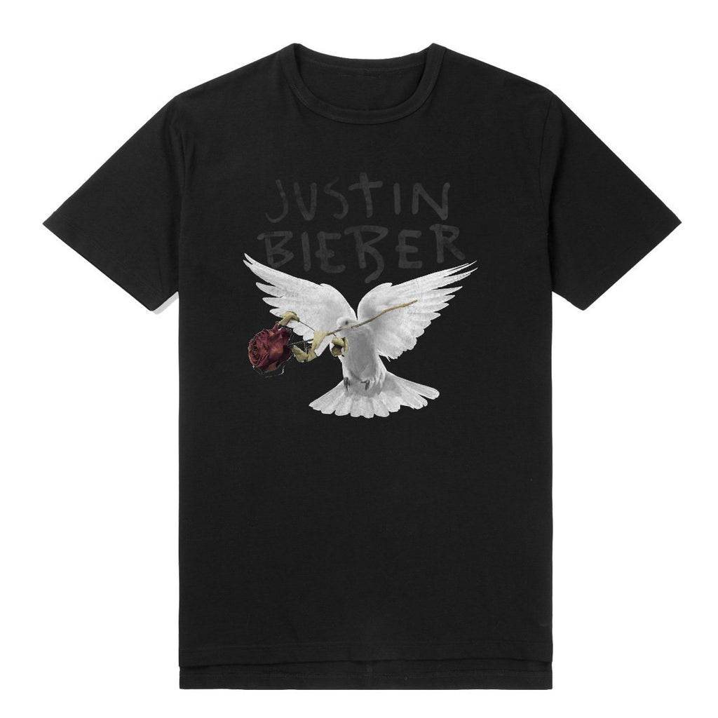 Justin Bieber | Dove And Dead Unisex Black T-Shirt