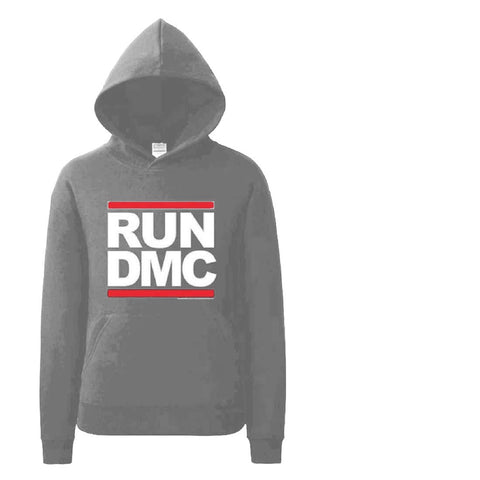 Image of Run Dmc Charcoal Pullover Hoodie