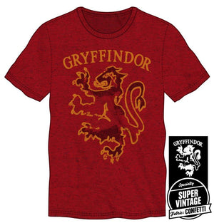 Harry Potter Gryffindor House Animal Lion Men's Red T-Shirt