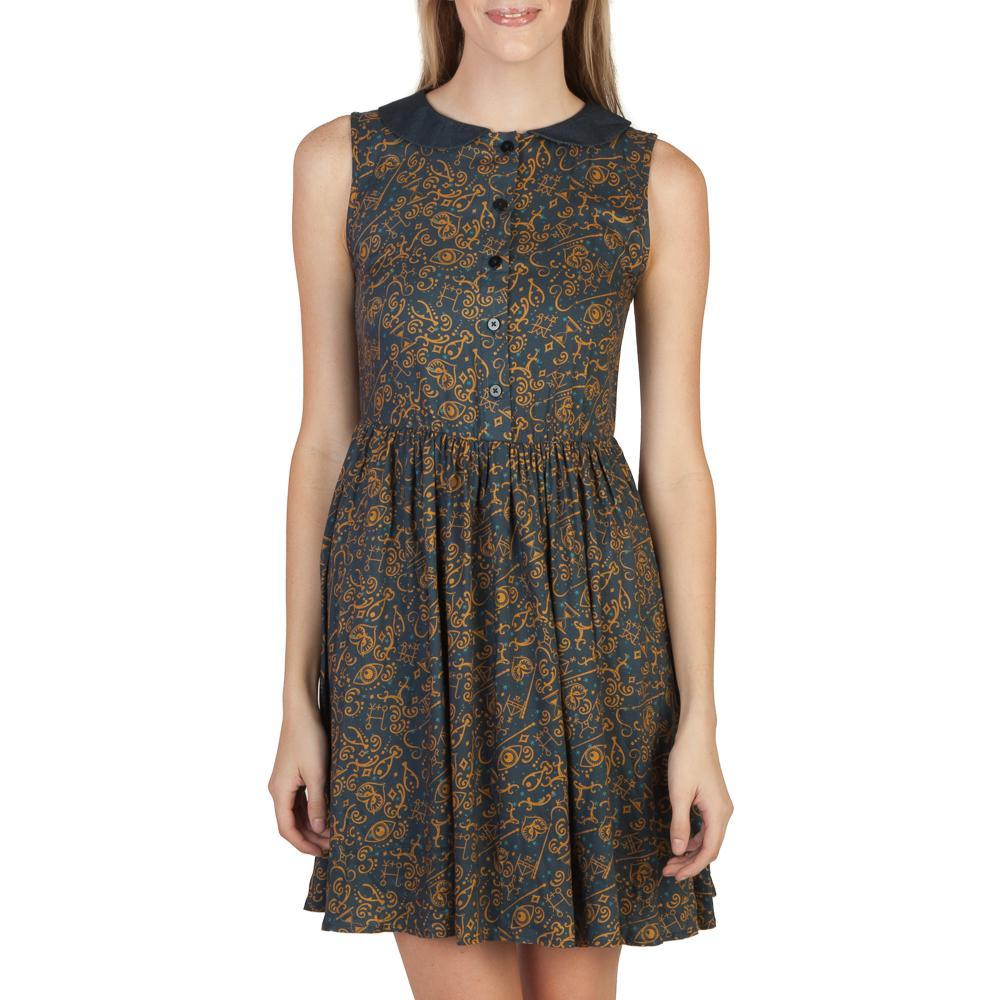 Fantastic Beast AOP Collar Women's Dress