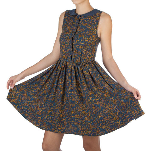Image of Fantastic Beast AOP Collar Women's Dress