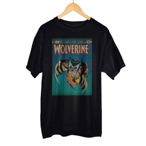 Image of Marvel Comics Limited Series Wolverine Claws Out Men's Black T-Shirt Tee Shirt
