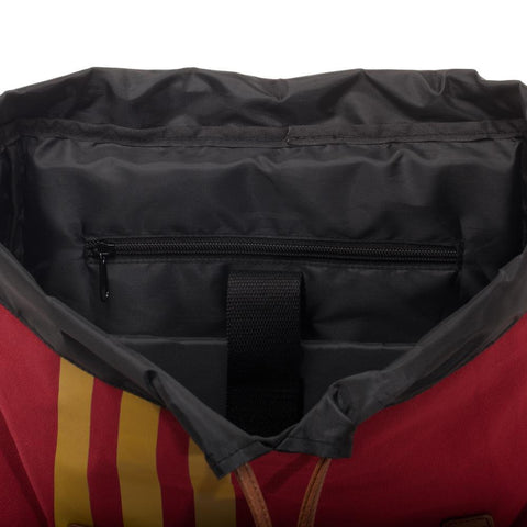 Harry Potter Quidditch Bag  Rucksack w/ Convenient Side Pockets - open