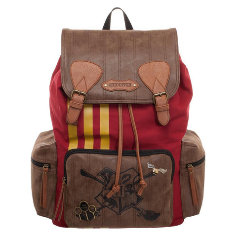 Harry Potter Quidditch Bag  Rucksack w/ Convenient Side Pockets - front