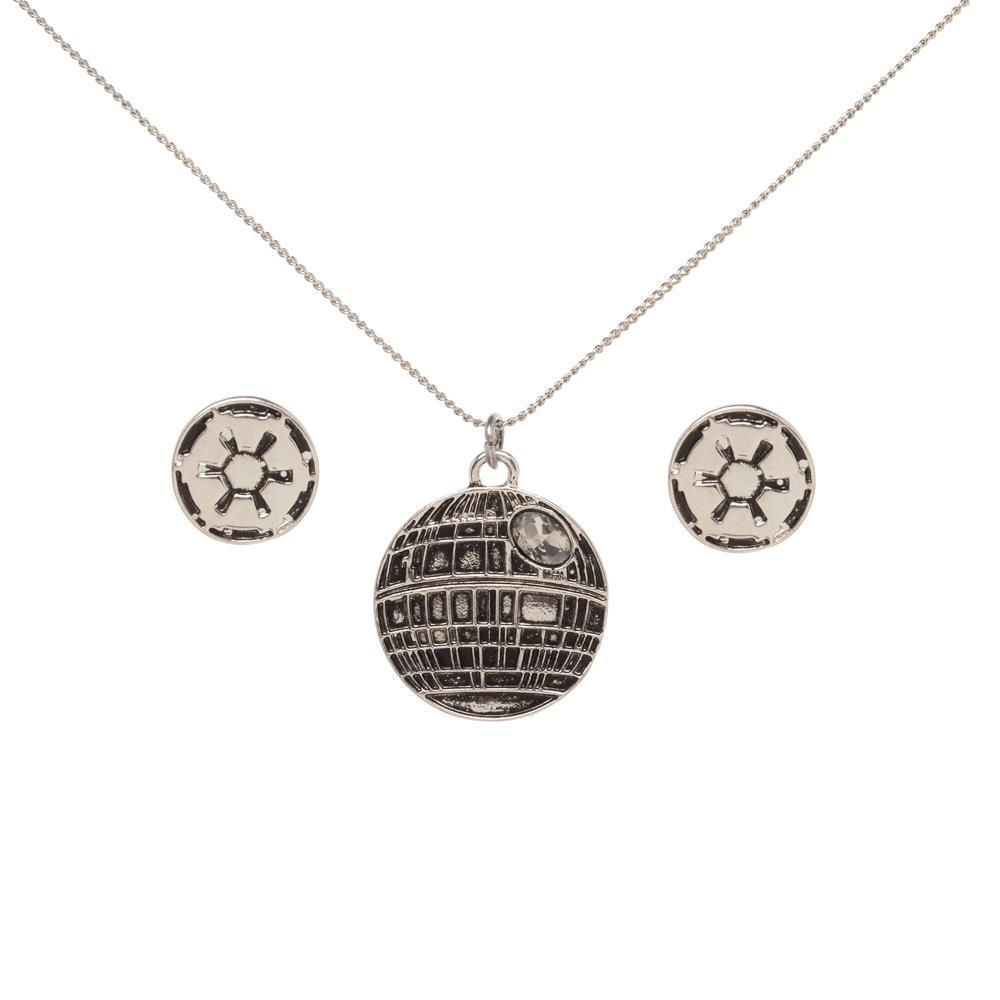 Star Wars Death Star Necklace and Imperial Earrings Set