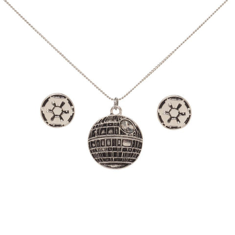 Image of Star Wars Death Star Necklace and Imperial Earrings Set