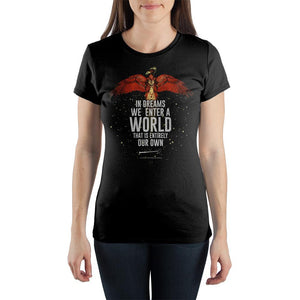 J.K. Rowling Harry Potter Quote Women's Black T-Shirt - front