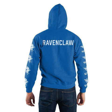 Image of Harry Potter Blue Ravenclaw Quidditch Pullover Hooded Sweatshirt - Back