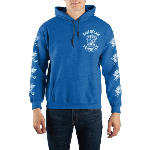Image of Harry Potter Blue Ravenclaw Quidditch Pullover Hooded Sweatshirt - front