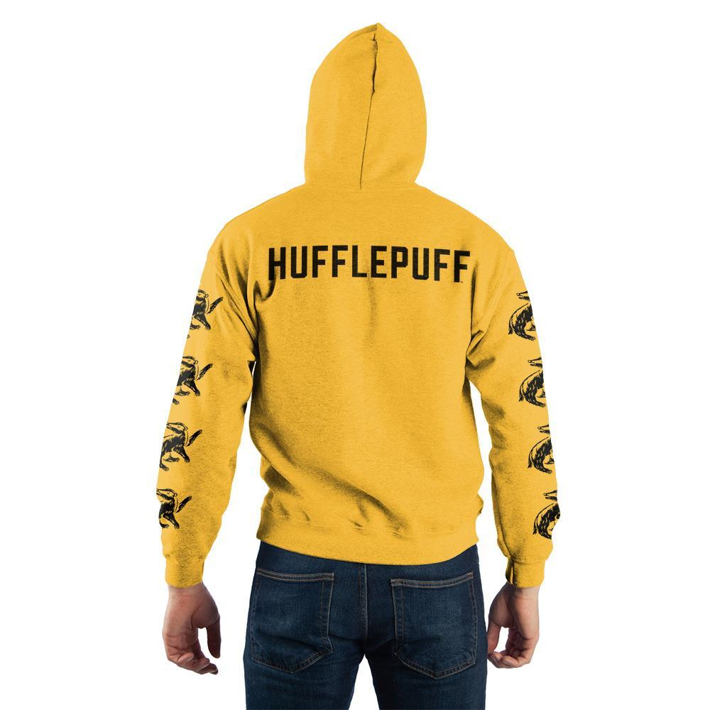 Harry Potter Hufflepuff Quidditch Pullover Hooded Sweatshirt - back