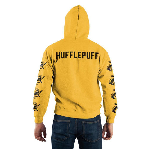Image of Harry Potter Hufflepuff Quidditch Pullover Hooded Sweatshirt - back