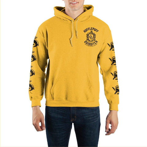 Image of Harry Potter Hufflepuff Quidditch Pullover Hooded Sweatshirt - front