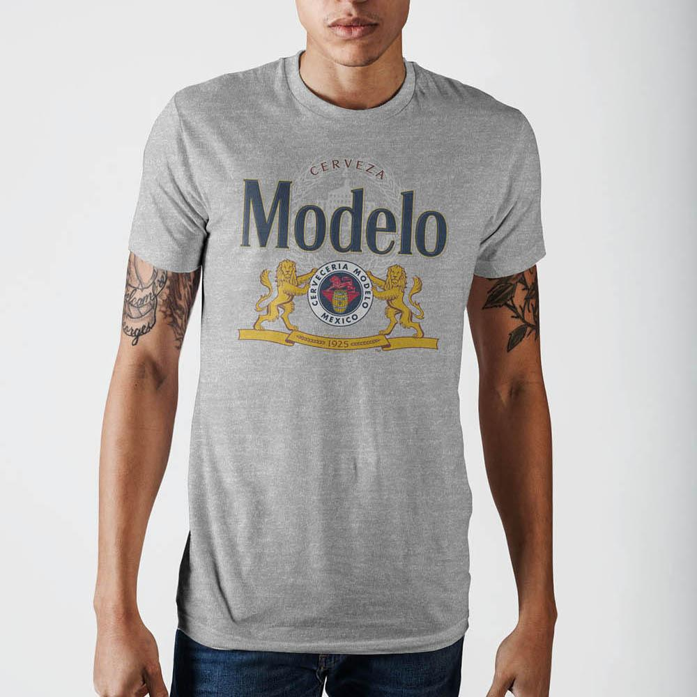 Modelo Lion Grey Heather T-Shirt- Front