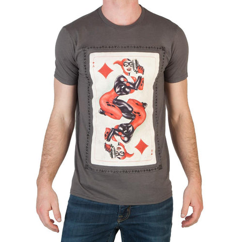 Image of Heroes & Villains Harley Card T-Shirt - front