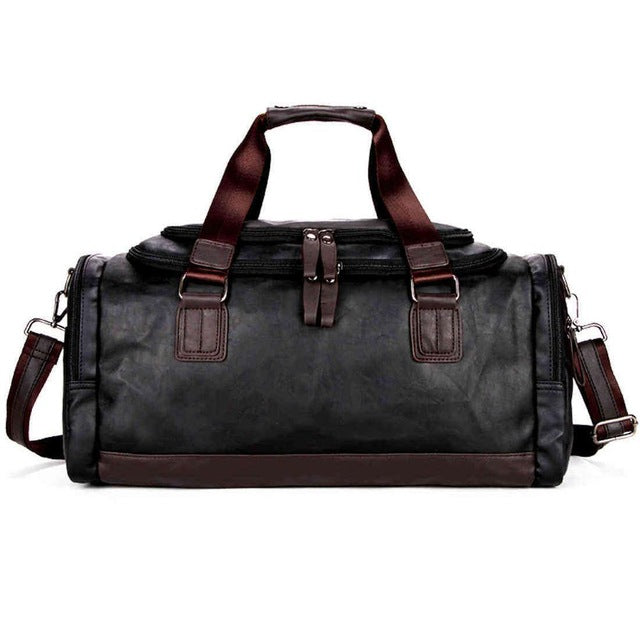 Vicuna Polo Large Black Duffel Bag - 3