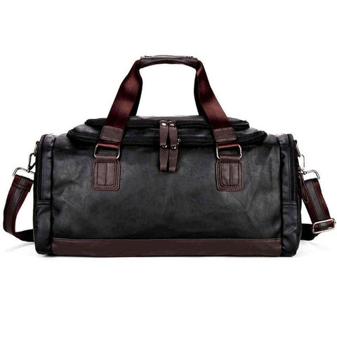 Image of Vicuna Polo Large Black Duffel Bag - 3