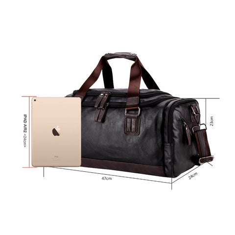 Image of Vicuna Polo Large Black Duffel Bag - 2