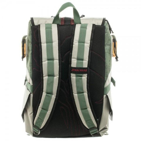 Image of Star Wars Boba Fett Laptop Backpack - back