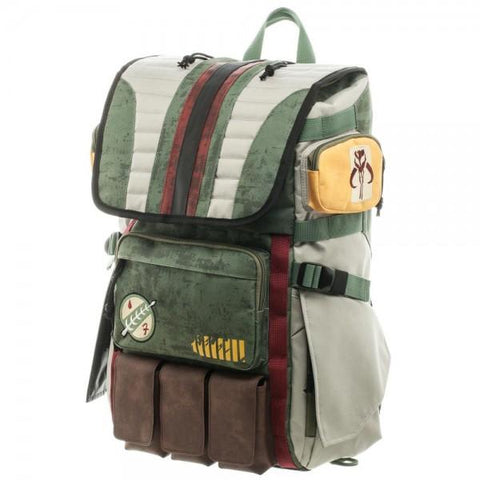 Image of Star Wars Boba Fett Laptop Backpack - left