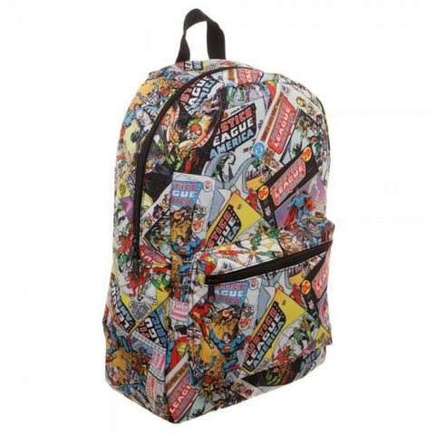 Justice League All Over Print QT Backpack - right