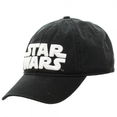 Star Wars Logo Black Adjustable Cap - left