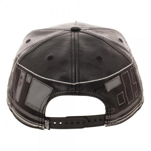 Image of Star Wars First Order BB Faux Leather Snapback Cap - bottom