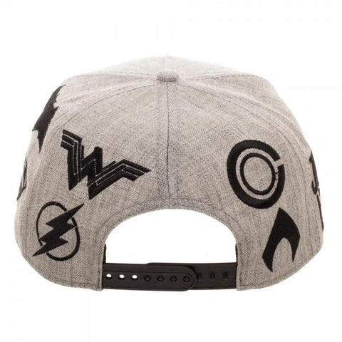 Justice League Embroidered Acrylic Wool Snapback - back