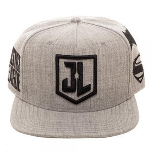 Justice League Embroidered Acrylic Wool Snapback - front