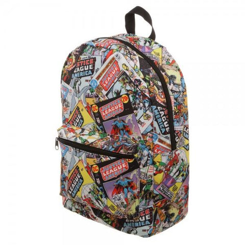 Justice League All Over Print QT Backpack - left