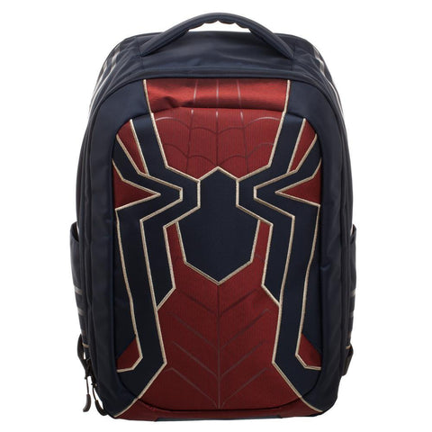 Image of Spiderman Laptop Bag, New Avengers Costume Style Red with Blue, Back t - front