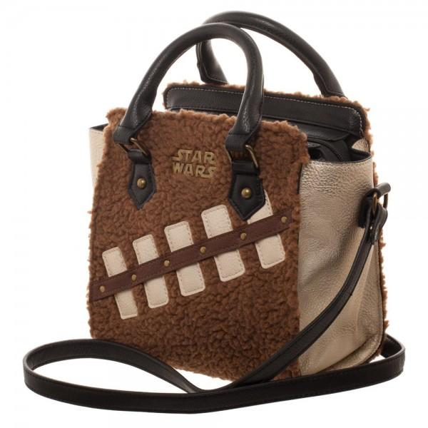 Star Wars Episode 8 Chewie and Porg Mini Brief Handbag - left