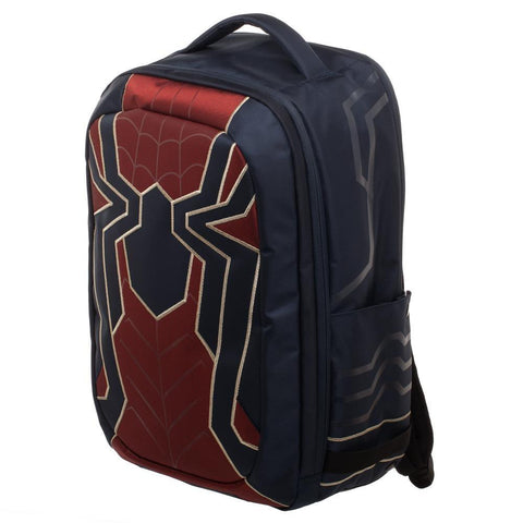 Image of Spiderman Laptop Bag, New Avengers Costume Style Red with Blue, Back t - left