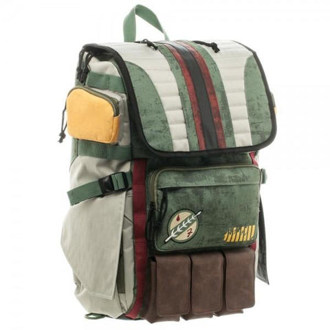Image of Star Wars Boba Fett Laptop Backpack - right