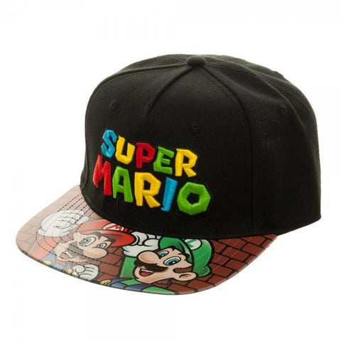 Image of Super Mario Bros | Printed Vinyl Bill Flatbill Cap