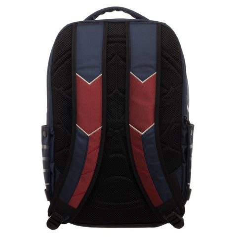 Image of Spiderman Laptop Bag, New Avengers Costume Style Red with Blue, Back t - back