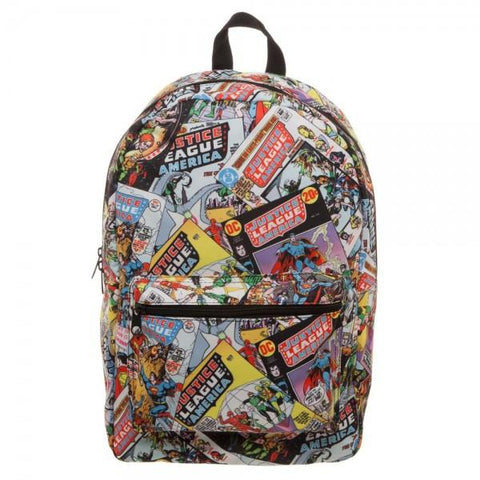 Image of Justice League All Over Print QT Backpack - front