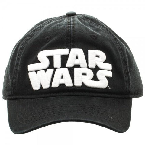 Image of Star Wars Logo Black Adjustable Cap - front