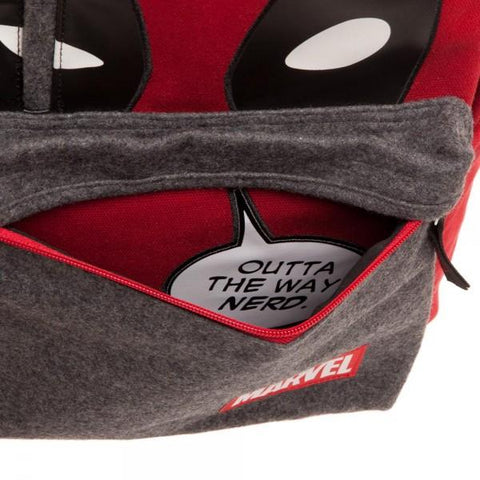 Image of Marvel Deadpool Hidden Quote Backpack- Bottom
