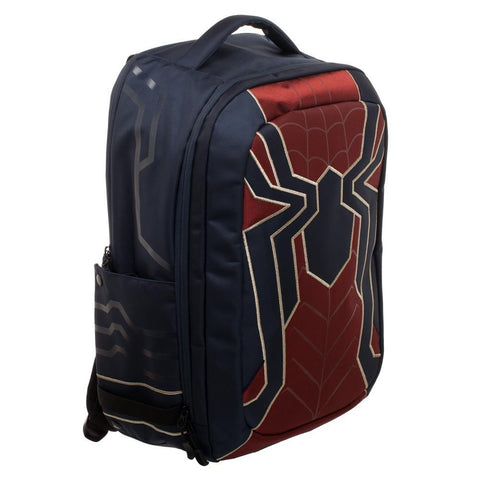 Image of Spiderman Laptop Bag, New Avengers Costume Style Red with Blue, Back t - right