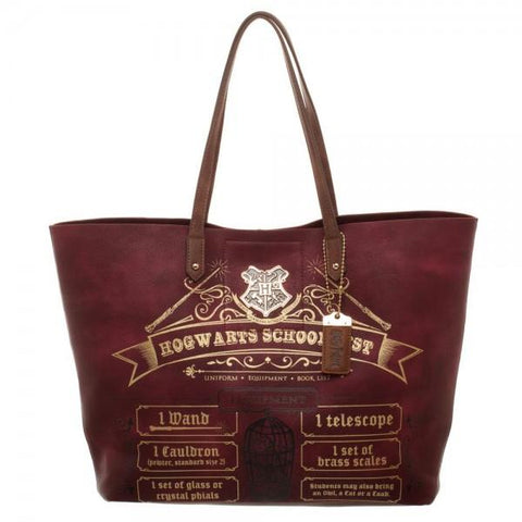 Harry Potter School List Tote - front