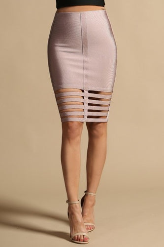 Bandage Cut Out Skirt