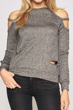 Glitter Distressed Top