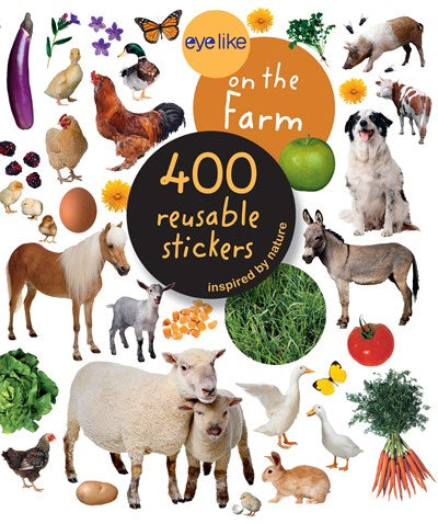 On the Farm 400 Reusable Stickers