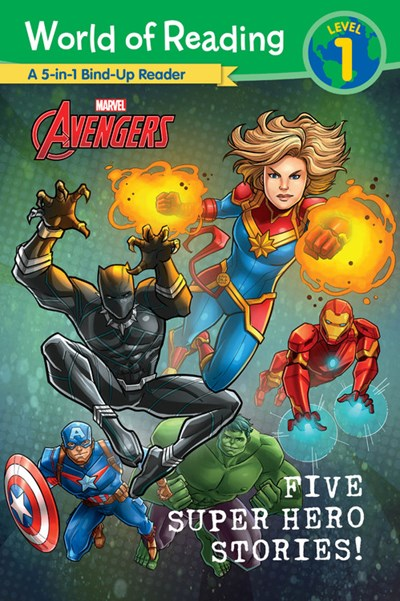World of Reading 5-in-1 Marvel Five Super Hero Stories