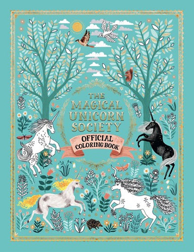 Magical Unicorn Society Coloring Book