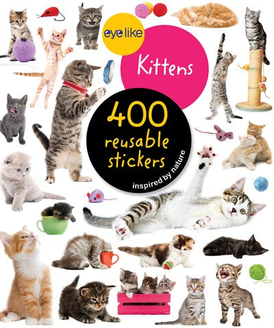 Eyelike: Kittens Reusable Stickers
